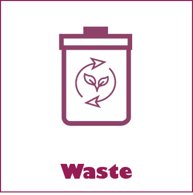 Click on this symbol to go to the Waste page